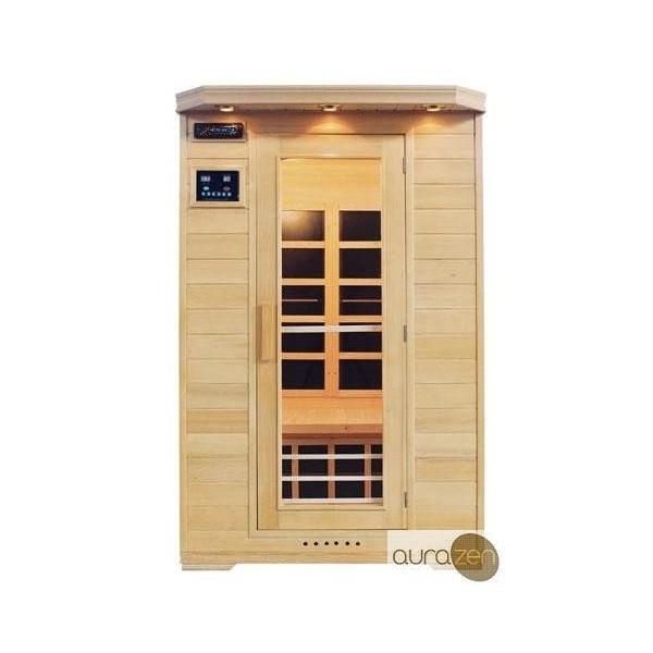 Sauna infrarouge de deux personnes en hemlock et - Sauna infrarouge carbone ...