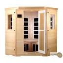 Sauna infrarouge de quatre personnes en hemlock et à radiants en carbone
