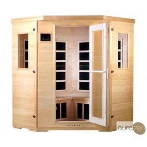 Sauna infrarouge de deux personnes en hemlock et à radiants en carbone